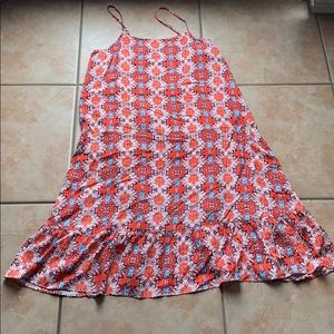 Nanette Lepore Orange Bingo Floral Sundress Size 8